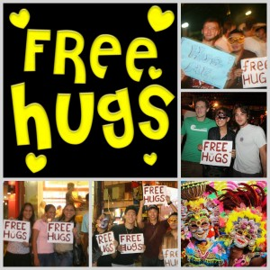 Free HUGS in the City of Smiles