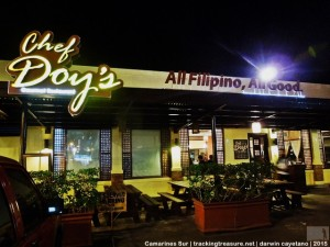 "Dinner at Chef Doy's Gourmet Restaurant. I recommend to try their ""laing"" and ""dinuguan""."