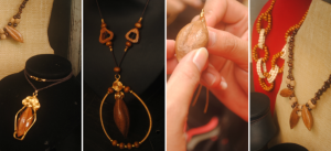 Really nice #necklace made from the shell of the pili fruit. #fashion #accessory by Tints and Tones Fashion Crafts +639478392201