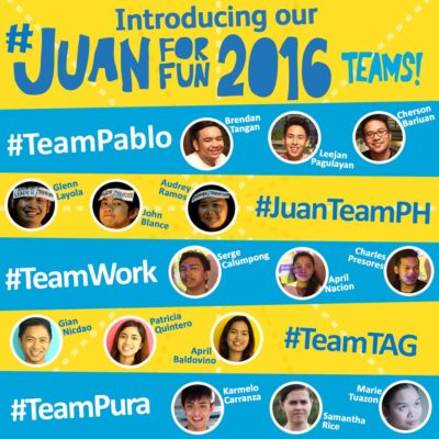 Cebu Pacific Juan for Fun Backpacker Challenge 2016 Winners Revealed!