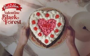 All-New Ruby Chocolate - An exciting flavor to love with Red Ribbon's Valentine Black Forest