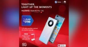 Get the HUAWEI Mate40 Pro 5G thru Globe's ThePlan