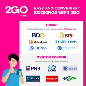 2GO Travel now offers more than 20 payment options on web booking