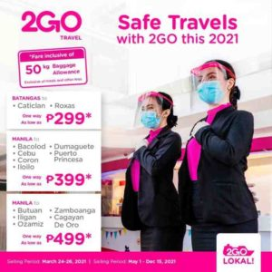 2GO Travel issues new travel guidelines, offers unlimited rebooking for free!