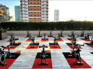 Rev it up! Ride Revolution at Shangri-La Plaza takes its classes outdoors