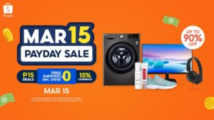 Find best deals at Shopee's 3.15 Payday Sale